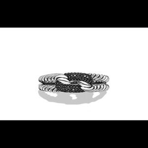 David Yurman Petite Loop Ring Black Diamonds Ring